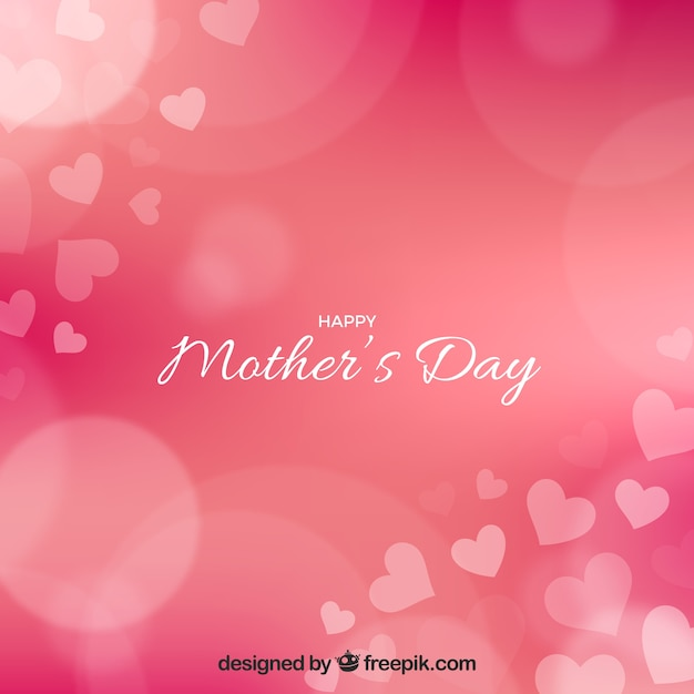 Bokeh background of mother's day Free Vector