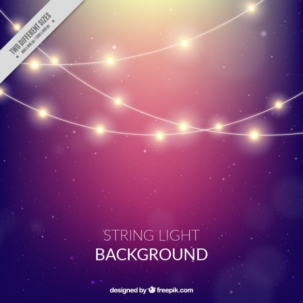 Bokeh background of string lights Vector Free Download