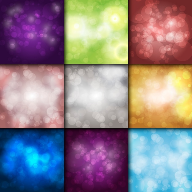 Bokeh background  sparkling effect warm blurred festive party lights background glow  glitter shiny backdrop. Premium Vector