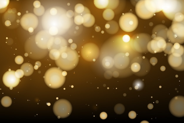 Bokeh background sparkling lights style Free Vector