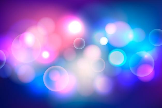 Bokeh sfondo con luci potenti Vettore gratuito