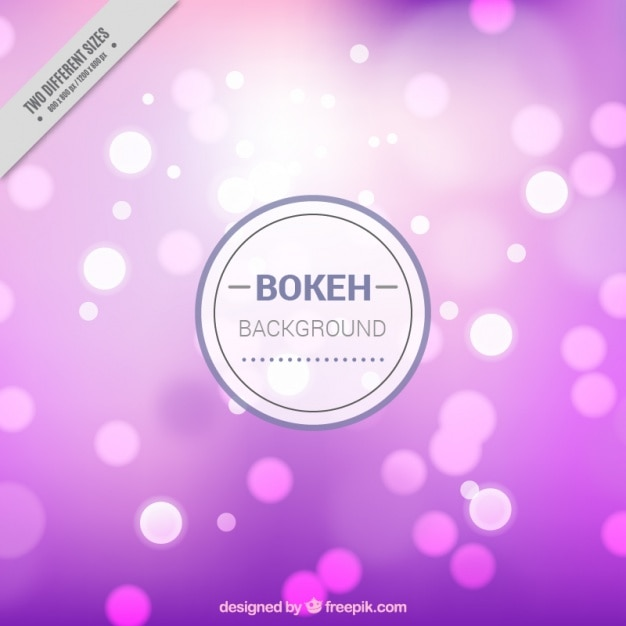 Bokeh background with shiny shapes in different colors Free Vector