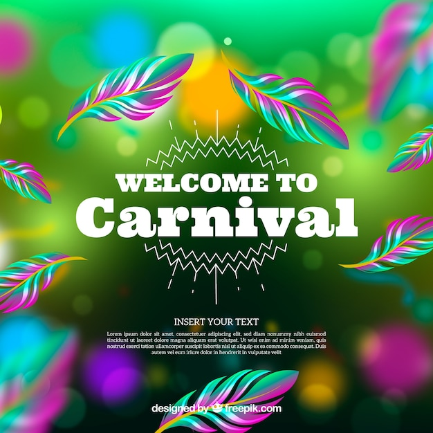Bokeh carnival background Free Vector
