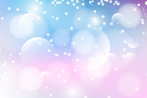 Bokeh effect background with fuzzy circles Free Vector