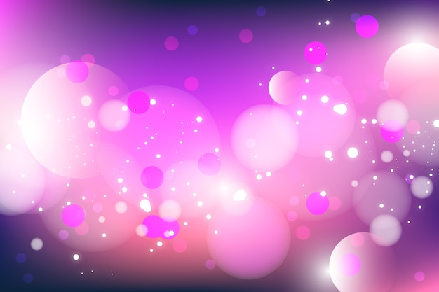 Bokeh effect background Free Vector