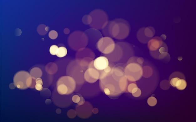 ボケ効果。あなたのデザインのためのクリスマスの輝く暖かい金色のキラキラ要素。図 Premiumベクター