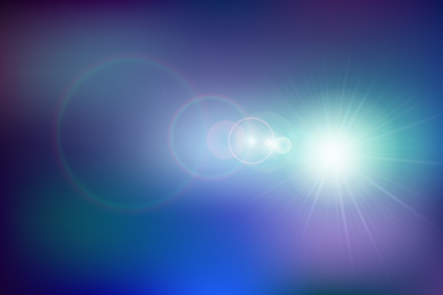 Bokeh effect gradient background Free Vector