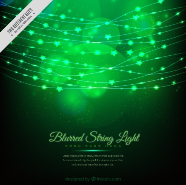 String Lights Bokeh : Bokeh green background of string lights Vector Free Download