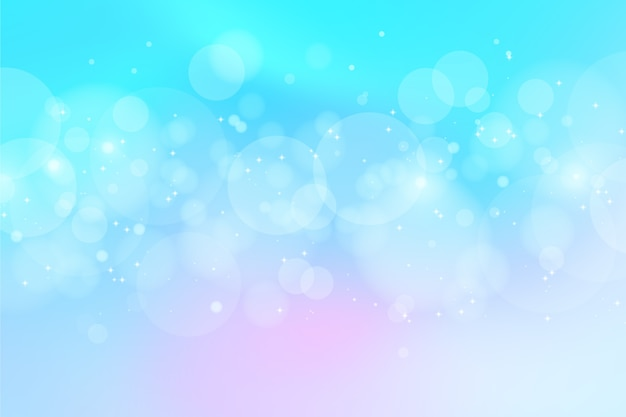 Bokeh lights background concept Free Vector