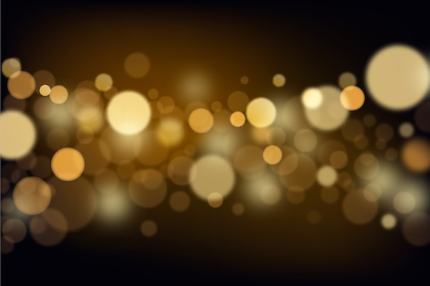 Bokeh lights background in gradient Premium Vector
