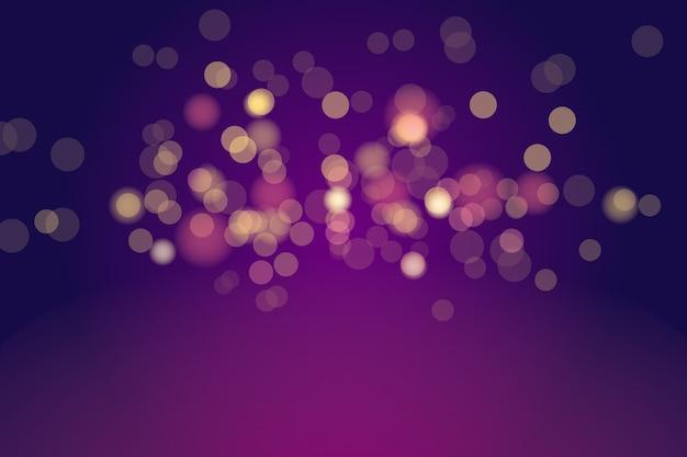 Bokeh lights effect on dark background Premium Vector