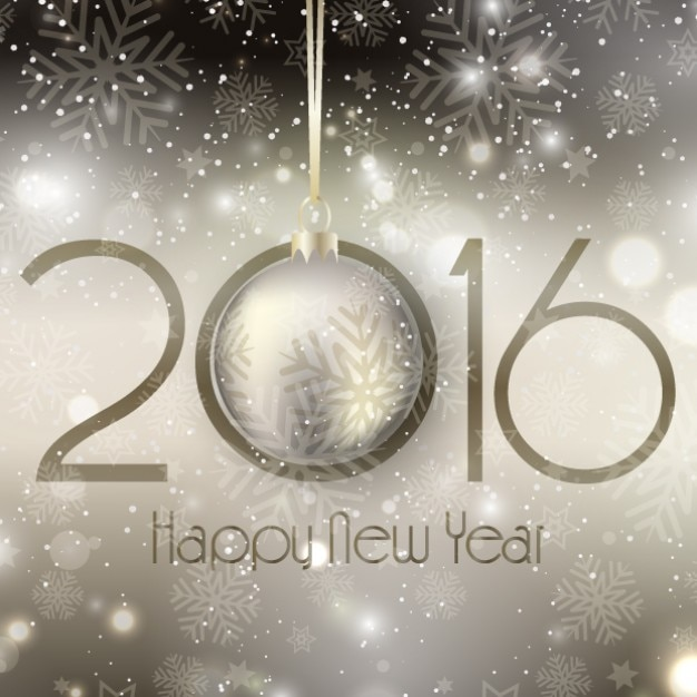 Bokeh new year 2016 background on bright style