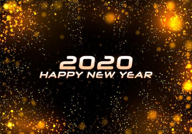 Bokeh sparkle christmas 2020 , festive Premium Vector