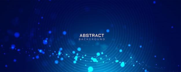 Голубой фон со светящимися точками bokeh style Бесплатные векторы