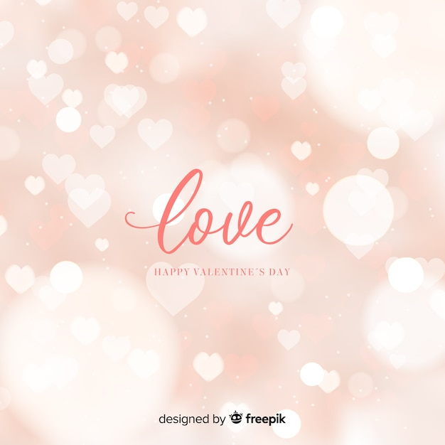 Bokeh valentine background Free Vector