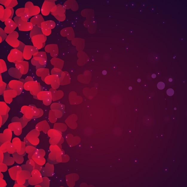 Bokeh Valentines Day Background In Purple Tones Vector Free Download