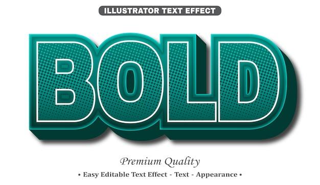 Bold 3d editable text style effect Premium Vector