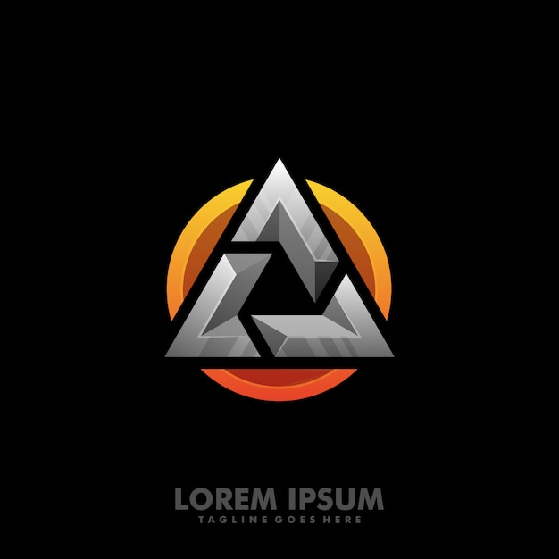 Bold abstract mark vector Premium Vector