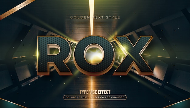 Bold gold and blue text Premium Vector