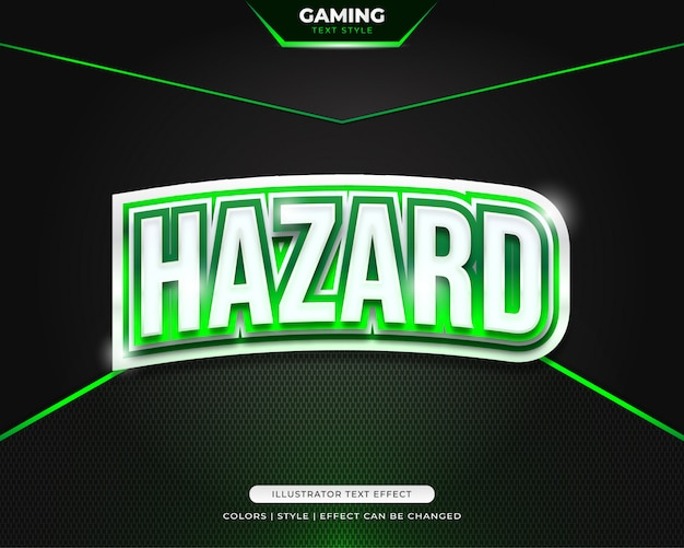Bold green text style effect for team identity or sticker Premium Vector