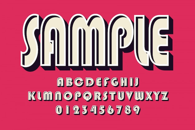 Bold modern font and alphabet, typeface, letters and numbers, typography. Premium Vector