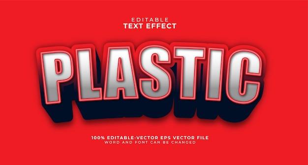 Grassetto plastica modificabile effetto di testo Vettore gratuito
