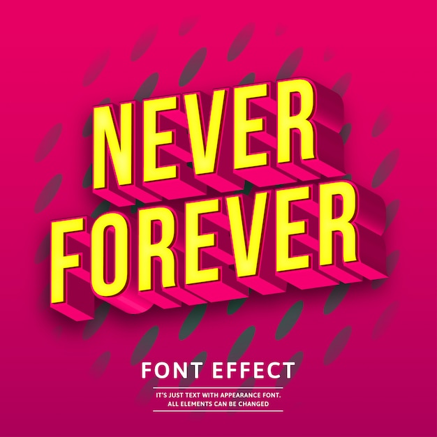 Bold trendy tittle 3d isometric text effect Premium Vector