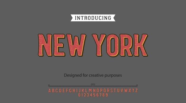 Bold typeface.for labels and different type designs Premium Vector