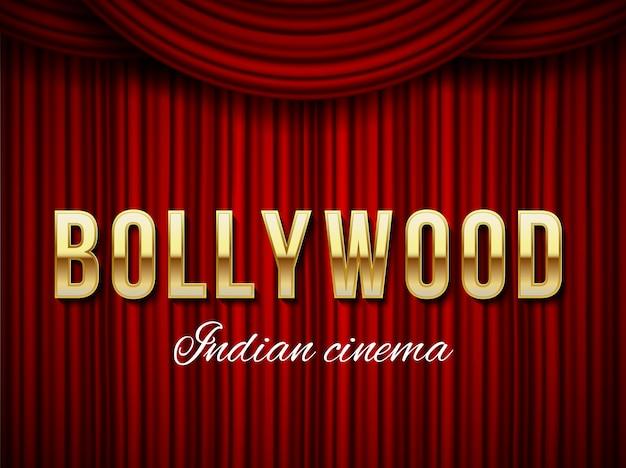 Bollywood cinema, indian movie, cinematography. Premium Vector