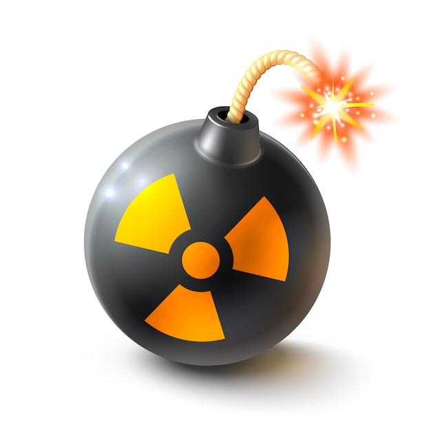 Bomb realistic illustration Free Vector