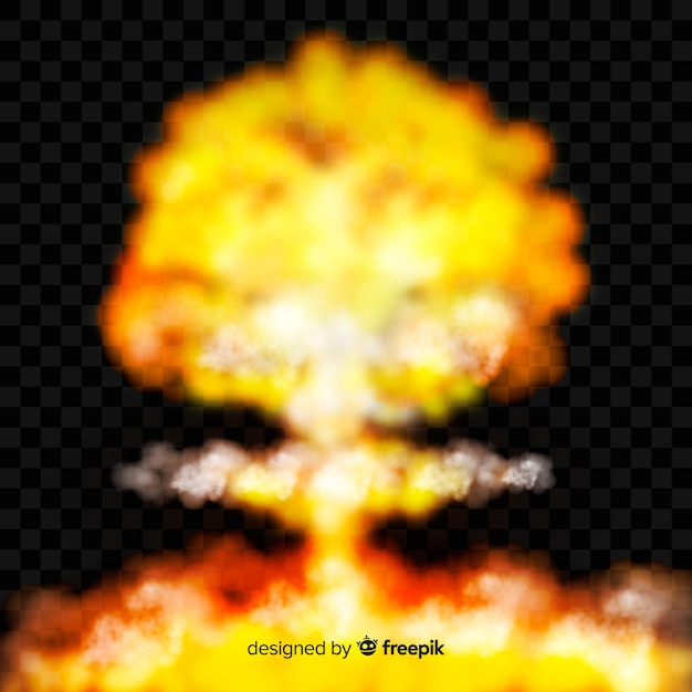 Bomb smoke effect realistic style Vector | Free Download