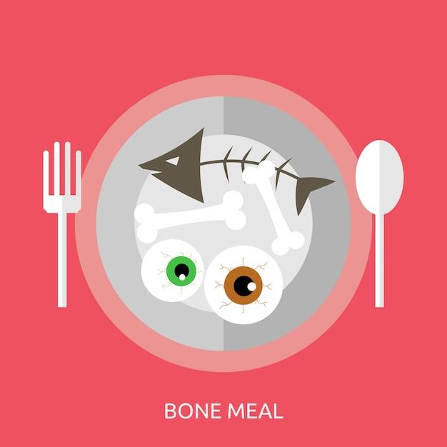 Bone meal conceptual design Premium Vector
