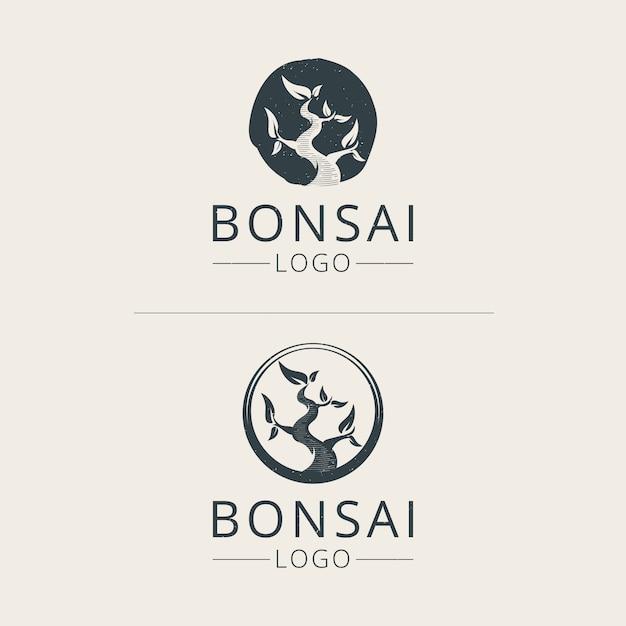 Premium Vector Bonsai Logo Template