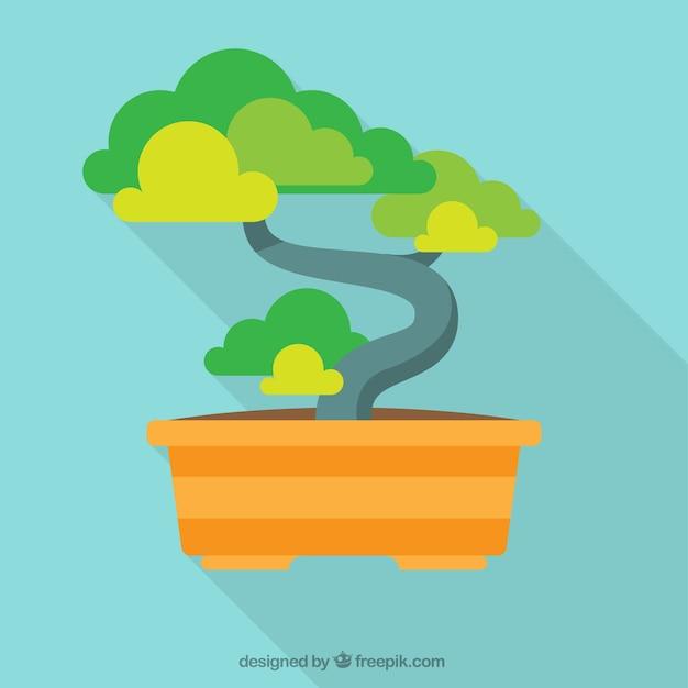 Bonsai tree illustration Free Vector