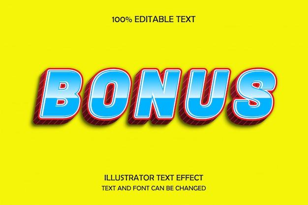 Bonus, editable text effect modern pattern style Premium Vector