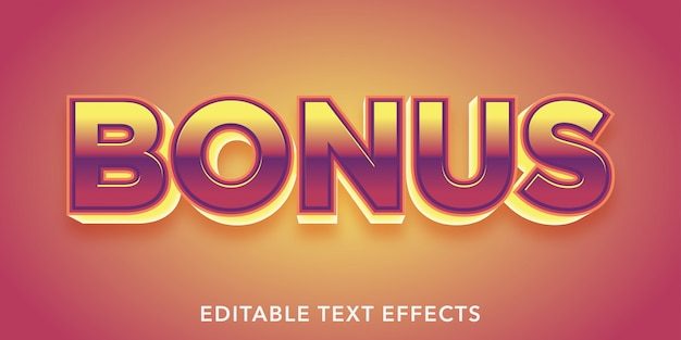 Bonus editable text effects Premium Vector