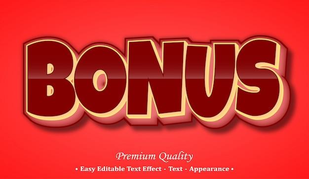 Bonus  font style effect Premium Vector