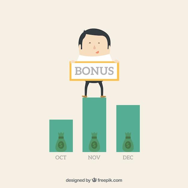 Bonus profit Free Vector