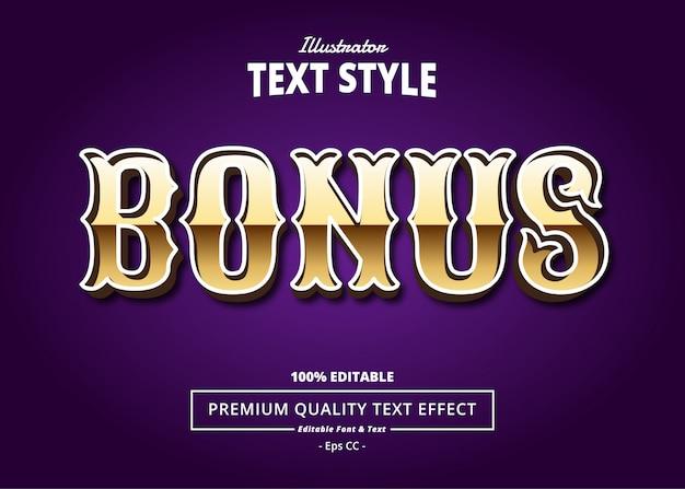 Bonus text effect Premium Vector