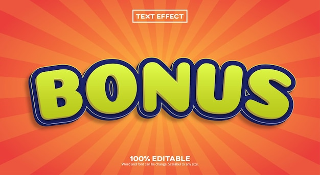Bonus  text effect Premium Vector