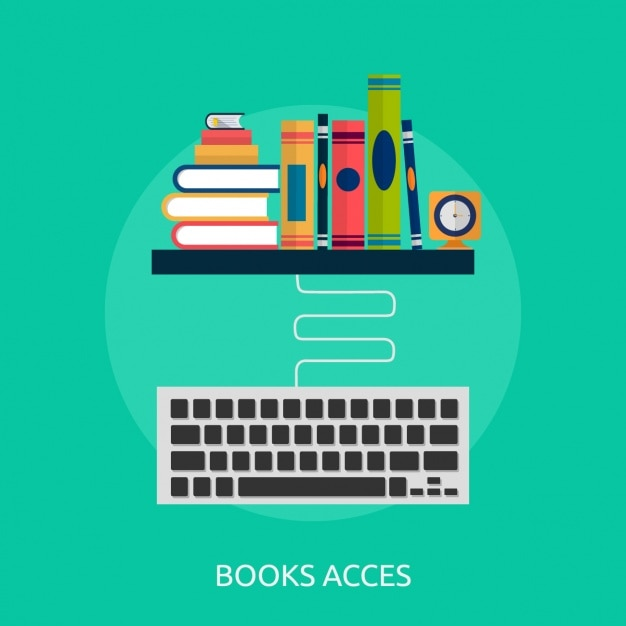 Book access background design Free Vector