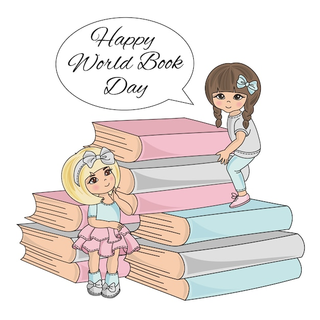 Book child world book day children Premium Vector