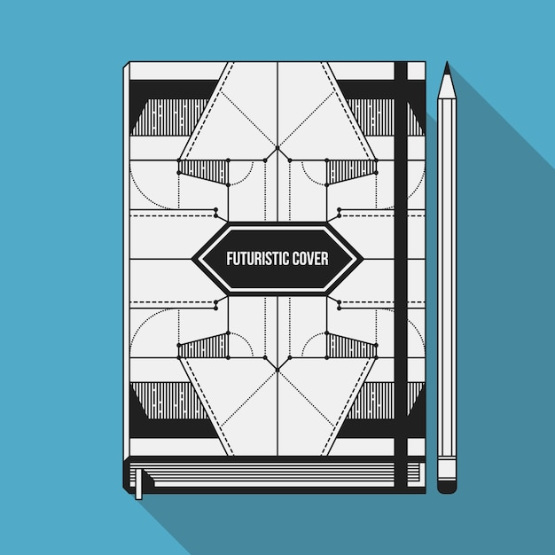 Book Cover Design Freepik : Book cover design template notebook mockup geometric