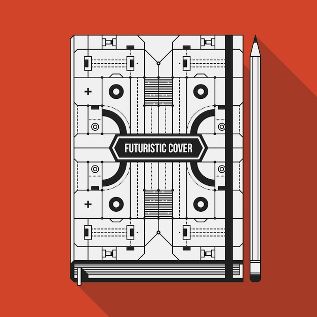Book cover design template. Premium Vector