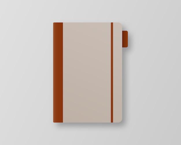 ブックカバー 。灰色の背景の空の本の表紙のテンプレート。 。テンプレート 。 Premiumベクター
