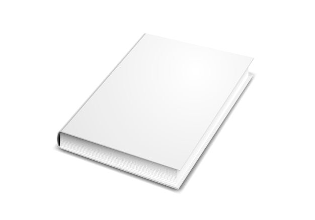 Book cover mock-up in perspective isolated on white Premium Vector