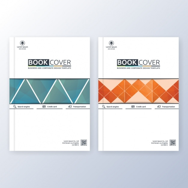Book Cover Freepik ~ Book cover template vector free download