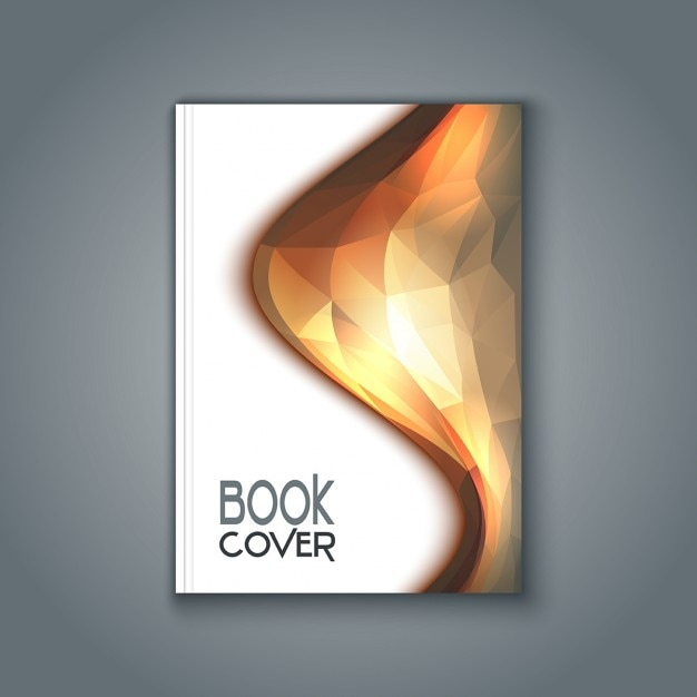 Book cover with polygonal design vector free download for Book cover page design templates free download