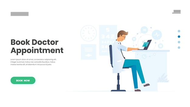 Book doctor appointment, doctor channeling Premium Vector