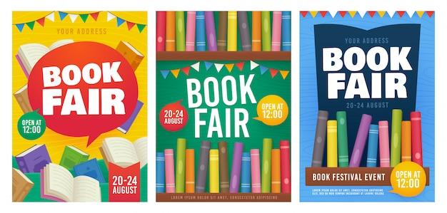 Book fair poster Premium Vector